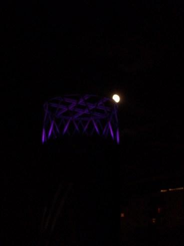 Moon behind Lowry