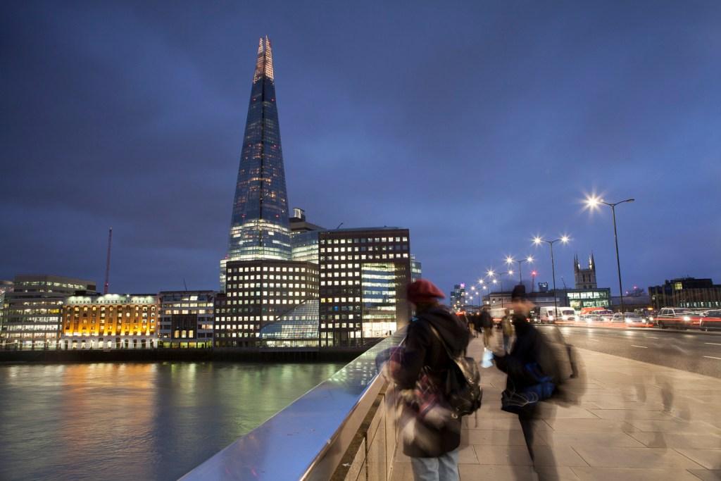 London Bridge and Shard. City Of London