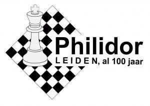 Het logo van Philidor, ontworpen voor het 100-jarig bestaan.