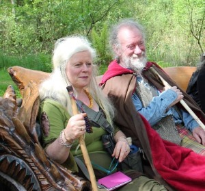 Eimear Burke & Howard Campbell at Dinas Emrys May 2014