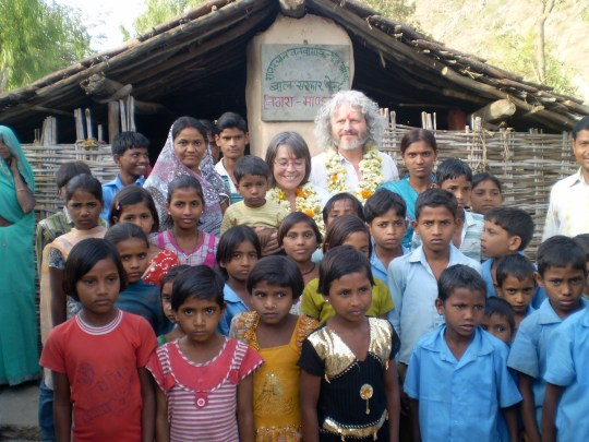 Philip & Stephanie Carr-Gomm on a One Tree Gathering visit to India 2012
