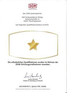 DOM Systempartner Zutritskontrolle