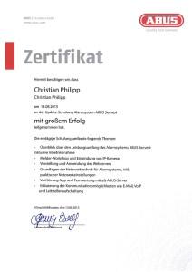 ABUS Secvest Zertifikat