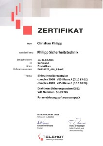 Telenot-Complex-200H-400H-Zertifikat