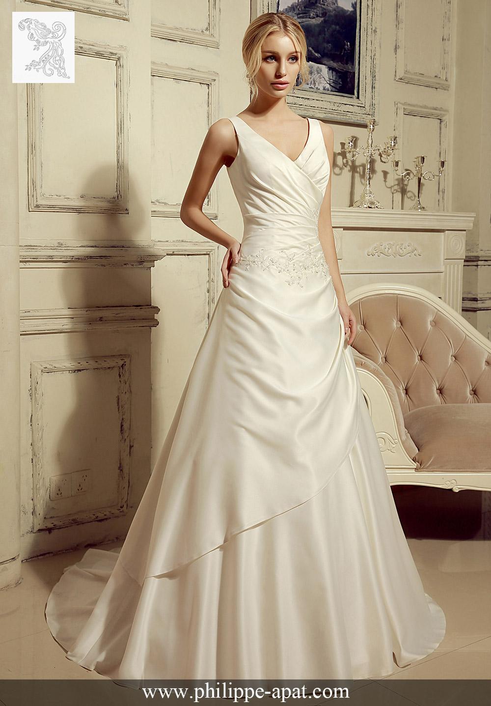 robe de mariage satin 2016 2017