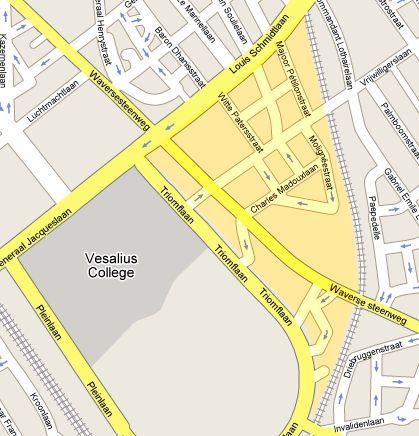 Plan d'ensembl du quartier (Google Maps)
