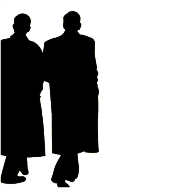 """2 men - 2 hommes - """"Let's walk"""""""