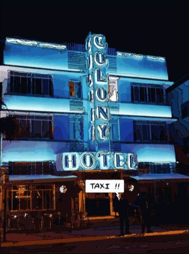 Miami // Colony Night -- Medium 70x100 259€ // Large 100x140 429€