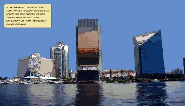 Dubai port -- Medium 90x50 219€ // Large 140x80 429€