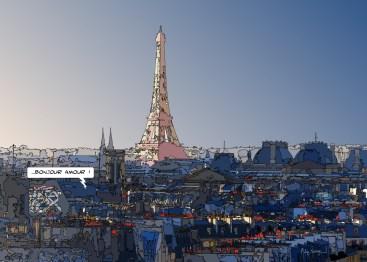 Bonjour amour -- Medium 100x70 259€ // Large140x100 459€