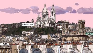 Sacre Cœur afar -- Medium 90x50 219€ // Large 140x80 429€