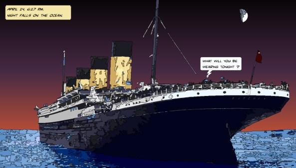 Titanic night -- Medium 90x50 219€ // Large 140x80 429€