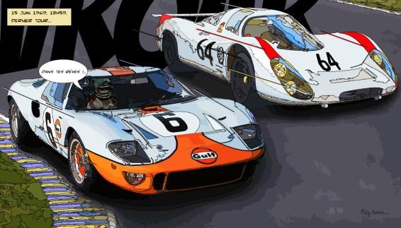 """Le Mans """"Dans tes rêves !...""""— Medium 90×50 219€ // Large 140×80 429€"""