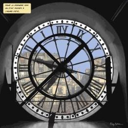 Horloge Orsay -- Medium 80x80 239€ // Large 100x100 299€ // XLarge120x120 449€