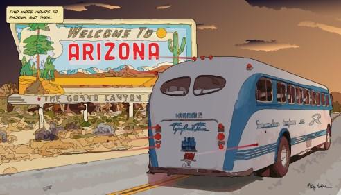 Arizona Bus -- Medium 90x50 219€ // Large 140x80 429€