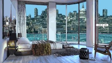 London // I love my life -- Medium 90x50 219€ // Large 140x80 429€