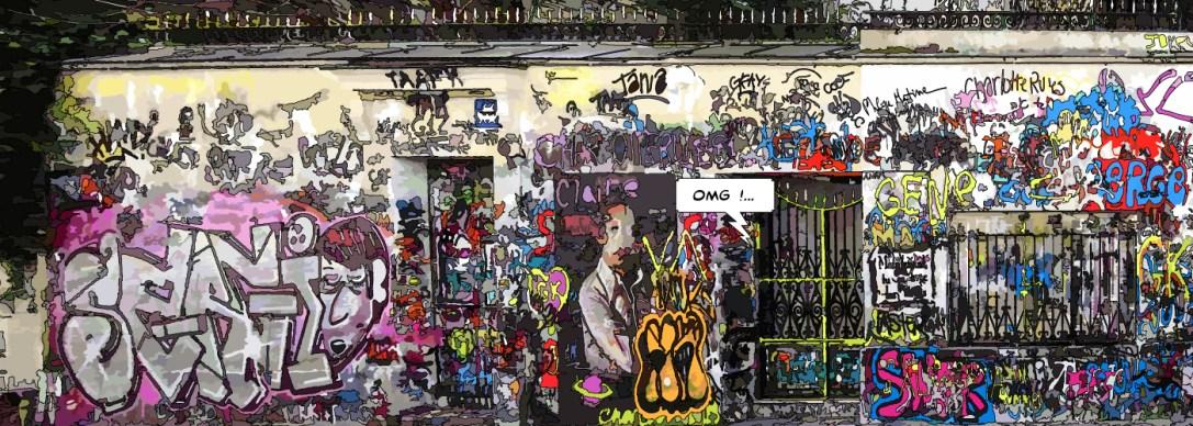 "Gainsbourg // ""OMG"" -- Large 140x50 359€"