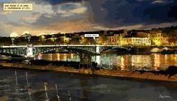 Lyon // Pont Gallieni -- Medium 90x50 219€ // Large 140x80 429€