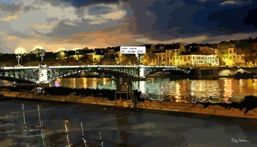 Lyon // Pont de l'Université-- Medium 90x50 219€ // Large 140x80 429€