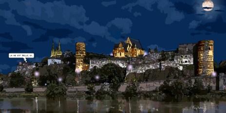 Angers // château nuit -- Medium 100x50 229€ // Large 160x80 479€