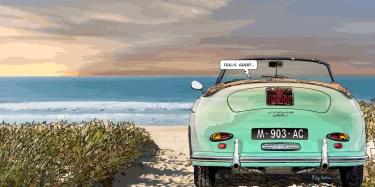356 Beach -- Medium 100x50 229€ // Large 160x80 479€