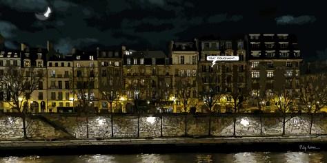 Paris // immeubles Quai des orfèvres -- Medium 100x50 229€ // Large 160x80 479€