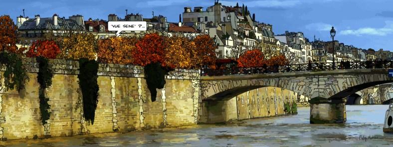 Paris // Pont de l'Archevêché -- Medium 40x100 199€ // Large 160x60 399€