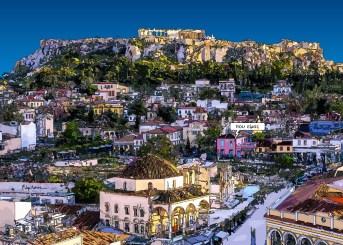 "Athènes // Acropole ""où suis-je"" -- Medium 100x70 259€ // Large 140x100 459€"
