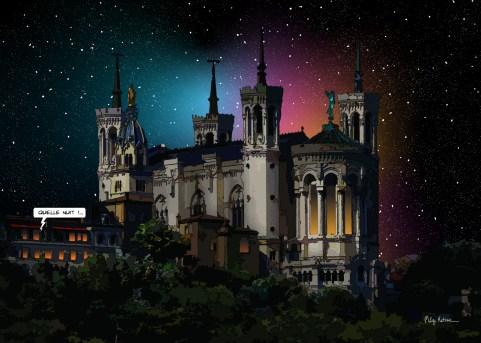 Lyon // Fourvière nuit -- Medium 100x70 259€ // Large 140x100 459€