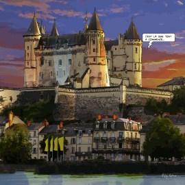 Saumur // Château -- Medium 80x80 239€ // Large 100x100 299€ // XLarge 120x120 449€
