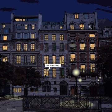 Paris // Place Dauphine nuit -- Medium 80x80 239€ // Large 100x100 299€ // XLarge 120x120 449€