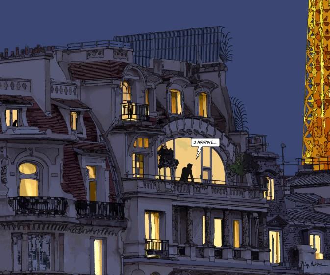"""Paris // """"J'arrive"""" nuit-- Medium 90x80 279€ // Large 120x100 399€"""