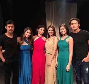 (L-R) Rocco Nacino, Kylie Padilla, Glaiza De Castro, Sanya Lopez, Gabbi Garcia, and Ruru Madrid (Photo from @imlottee's Instagram)