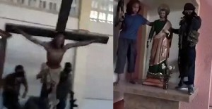 ISIS destroy caltholic idols in Philippines.