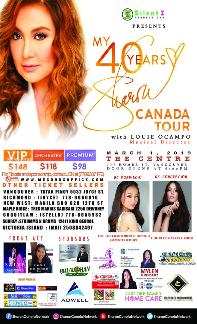 Sharon Cuneta in Vancouver February 2019