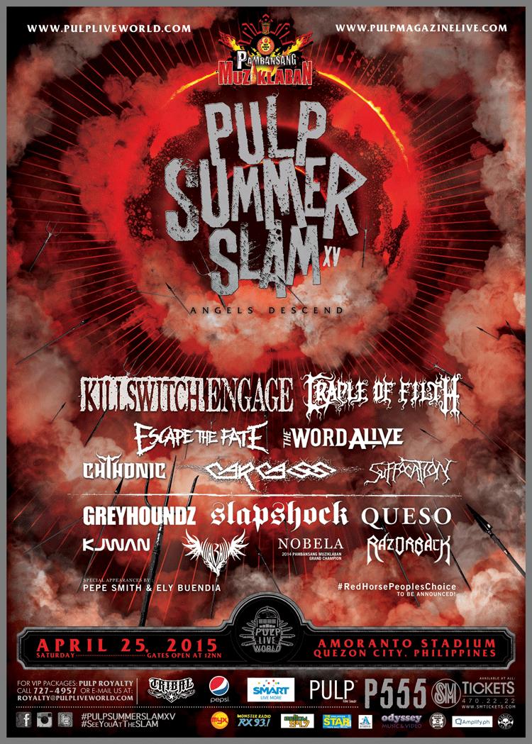 b7ca529ffe3b Pulp Summer Slam 2015 T Shirt For Sale