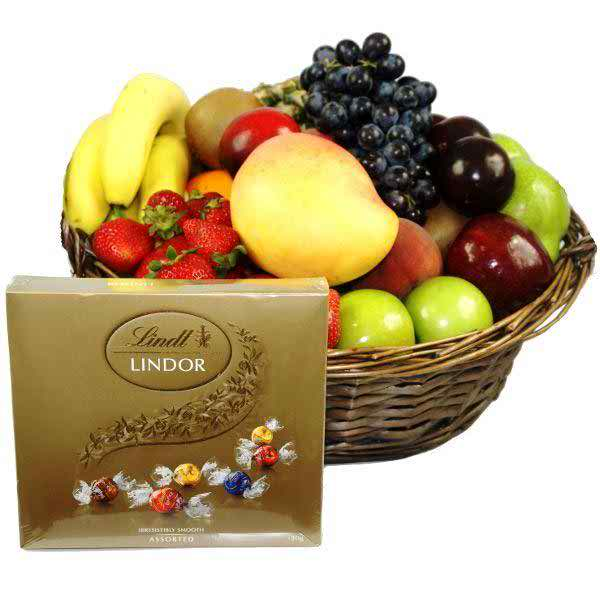 Philippine Flowers Delivery Chocolate Fruit Basket