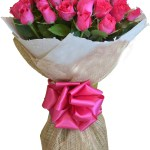 Send 24 Pink Roses In Bouquet To Philippines Delivery 24 Pink Roses In Bouquet To Manila