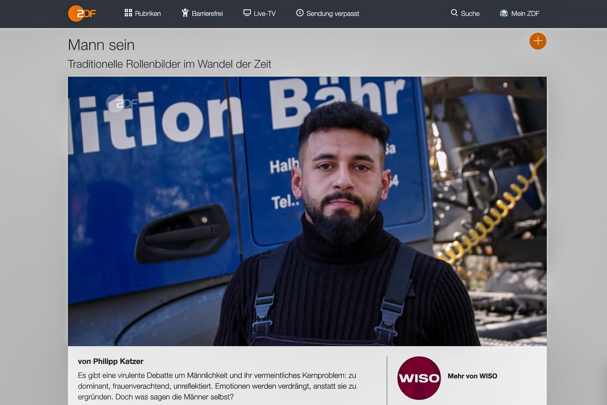 ZDF Männer Katzer Mann sein