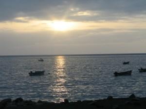 Coucher de soleil à Tarrafal