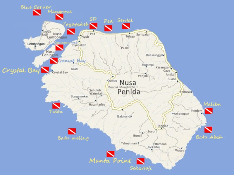Sites de plongée de Nusa Penida