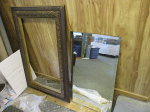 upcycling beveled glass mirror project