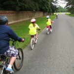 Passing the Sandringham Car Park on NCN Route 1