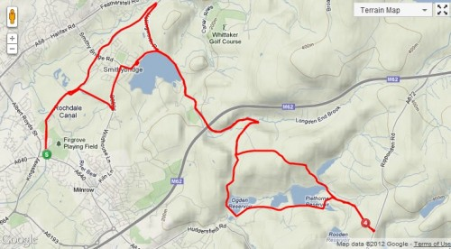 Strava map of our social ride