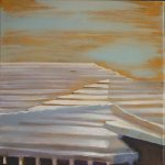 """Rooflines"" 12x12"" acrylic on boxed canvas"