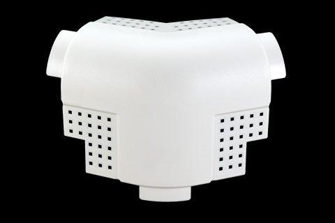 "gripstik vinyl drywall corner transition cap - 1-1/2"" bullnose rounded finish 3-way splay corner cap"