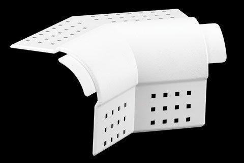 "gripstik vinyl drywall corner transition cap - 3/4"" bullnose rounded finish 2-way splay corner cap"