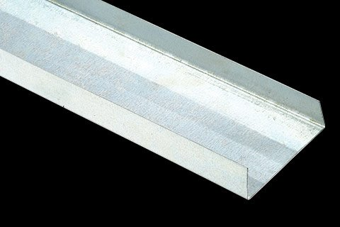 conventional metal tracks for drywall stud wall assembly