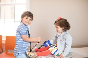 two children playing doctor