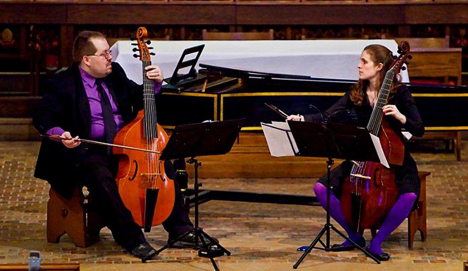 Phillip Serna Performing with the period-instrument ensemble Duo Fantaisie en écho in Ann Arbor, MI